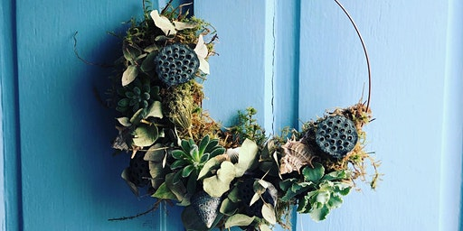 Living wreath making with succulents