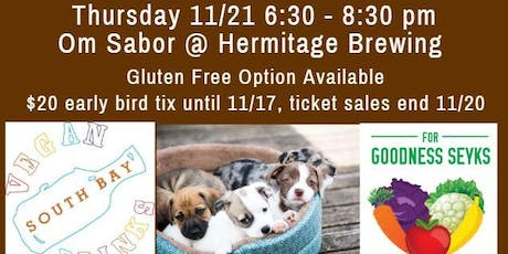 November Social: Vegan Food, Friends, Beer & Adoptable Dogs tickets