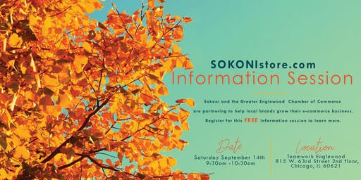 SOKONIstore.com Information Session (Greater Englewood Chamber of Commerce)