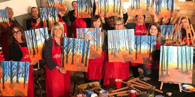 Autumn Stroll Brush Party - Gloucester