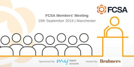 FCSA Members' Meeting Sponsored by My Digital Accounts tickets