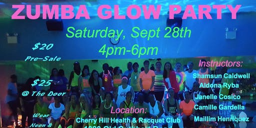 Zumba Glow Party on 9/28 in Cherry hill