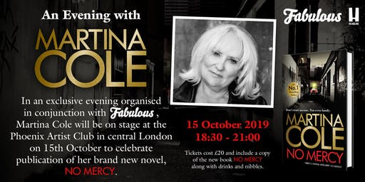 An Evening with Martina Cole in conjunction with FABULOUS