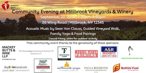 Community Evening at Millbrook Vineyards & Winery
