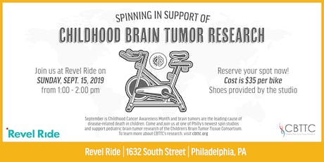 Childhood Brain Tumor Research Spin Class Fundraiser at Revel Ride Philly tickets