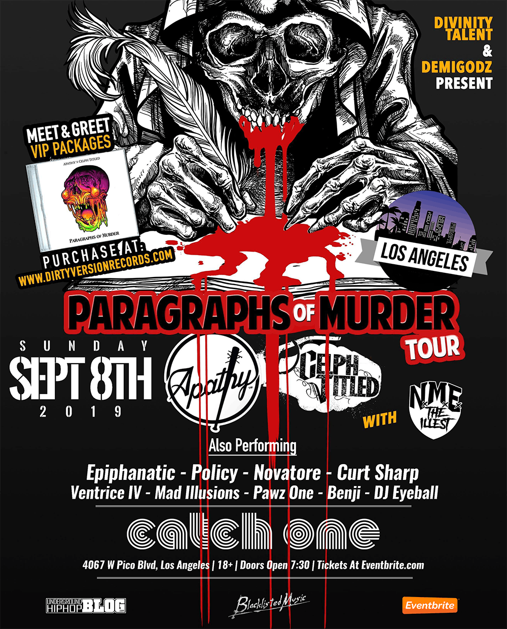 "Apathy & Celph Titled ""Paragraphs of Murder Tour"" In Los Angeles"