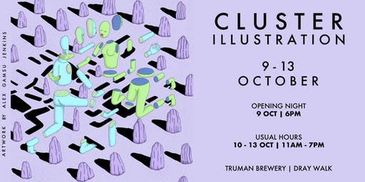 Cluster Illustration Fair at The Old Truman Brewery