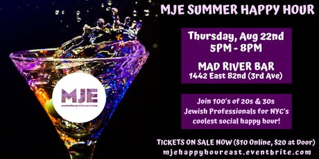 MJP Summer 2019 Happy Hours for 20's & 30's Manhattan Jewish Professionals tickets
