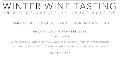 Winter Wine Tasting in aid of Katherine House Hospice tickets