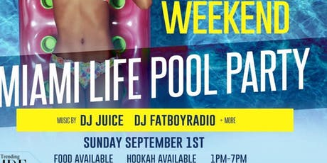 Miami Life Rooftop Pool & Day Party tickets