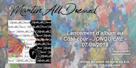 """Lancement d'album """"Le blanc de mon noir"""" de Martin billets"""