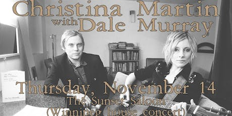Christina Martin w/Dale Murray @The Sunset Saloon, Nov. 14, 2019 tickets