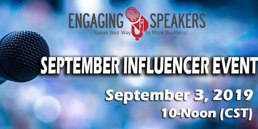 Engaging Speakers September Influencer Event!