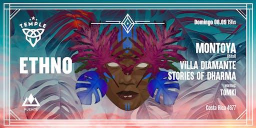 Ethno presenta Montoya (IT/COL) + VillaDiamante + Stories of Dharma + Tomki