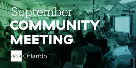 September 2019 Community Meeting tickets