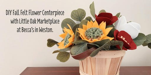 DIY Fall Felt Flower Centerpiece