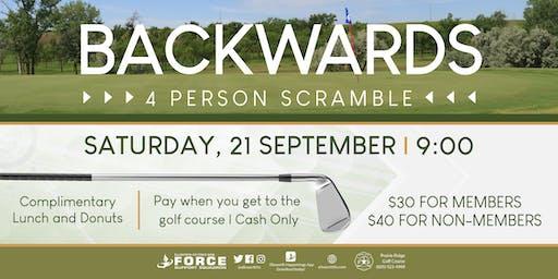 PRGC - Backwards 4 person golf scramble