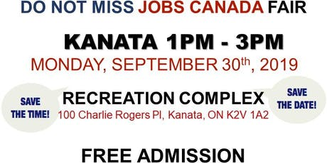 KANATA JOB FAIR – September 30th, 2019 tickets