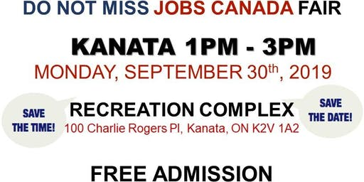 KANATA JOB FAIR – September 30th, 2019