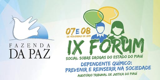 IX Forum Social Sobre Drogas do Estado do Piauí