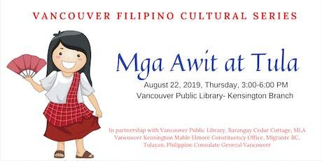 Filipino Cultural Series: Mga Awit at Tula tickets