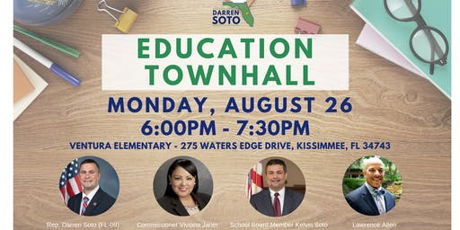 Education Town Hall with Rep Darren Soto