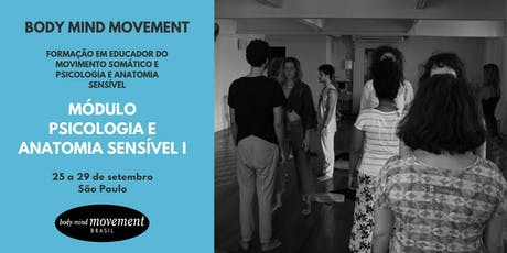 Módulo Psicologia e Anatomia Sensível I - Body Mind Movement São Paulo ingressos