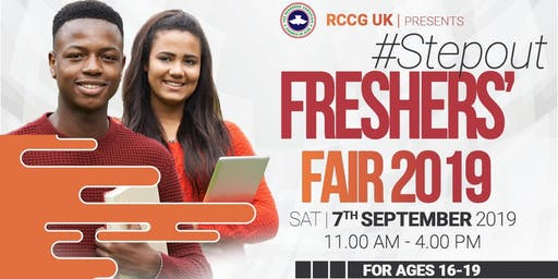 STEP OUT Freshers' Fair - Saturday 7th September 2019