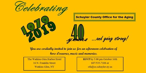 Schuyler County Office for the Aging Celebrates 40th Anniversary!