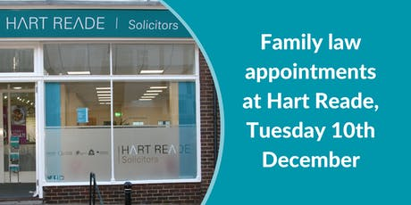 Family law appointments at Hart Reade (Meads) - 10th December 2019 tickets