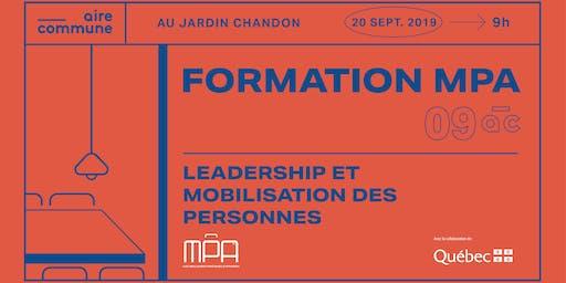 09AC | MPA : Leadership et mobilisation des personnes