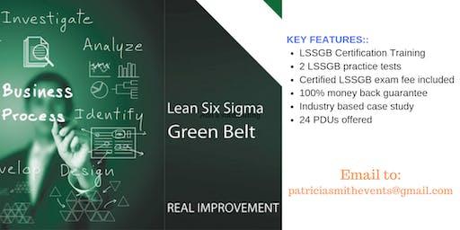 Lean Six Sigma Green Belt (LSSGB) Certification Training Course in Alpine, TX