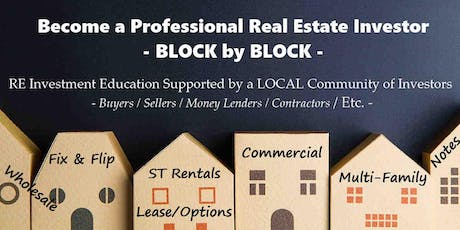 Professional Real Estate Investor Education & Community (S) tickets