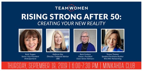 Rising Strong After 50: Creating Your New Reality | Speaker Panel tickets