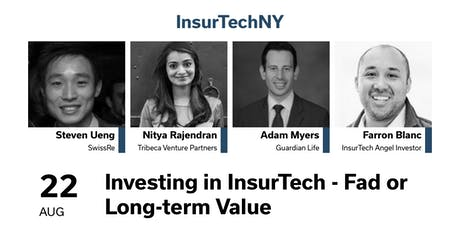 InsurTechNY Presents: Investing in InsurTech - Fad or Long-term Value tickets