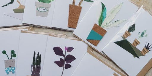 Plant Card Crafting- create your own set of 4 greeting cards