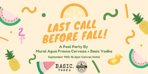 Last Call Before Fall Pool Party