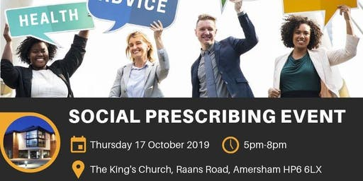 Social Prescribing Event, 17th October, 2019, Kings Church, Amersham, 5-8pm