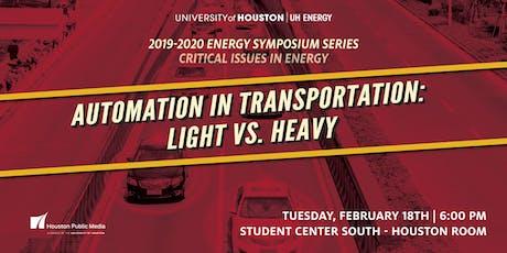 Automation in Transportation: Light vs Heavy  tickets