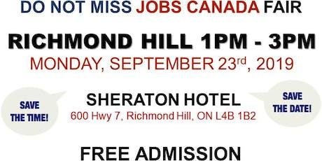 Richmond Hill Job Fair – September 23rd, 2019 tickets
