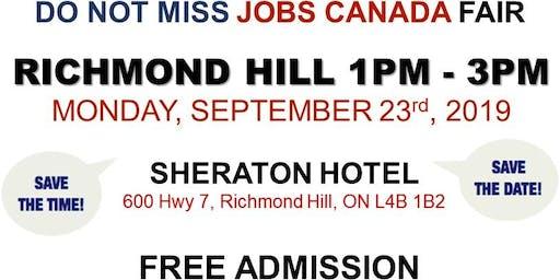 Richmond Hill Job Fair – September 23rd, 2019