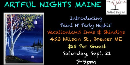 Paint N' Party at Vacationland Inns & Shindigs All Occasion Event Center