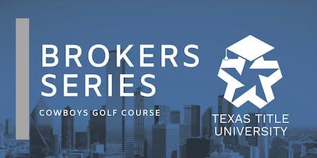 Texas Title Broker Series tickets