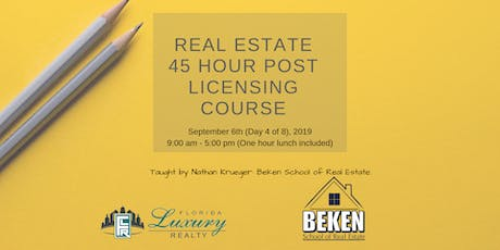 Real Estate 45 Hour Licensing Course Day 4 tickets