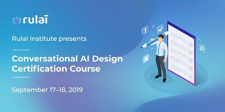 Conversational AI Design Certification Course billets