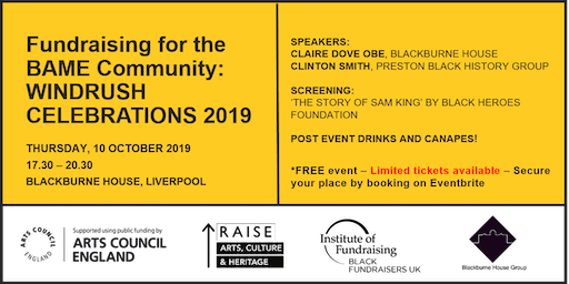 Fundraising for the BAME Community: Windrush celebrations 2019
