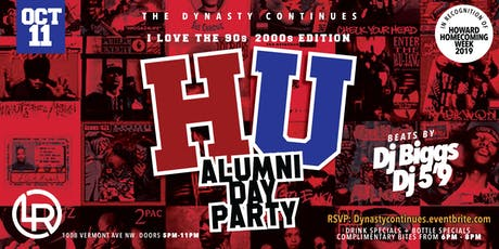 Dynasty Continues HU Alumni Day Party: I Love the 90s & 2000s tickets