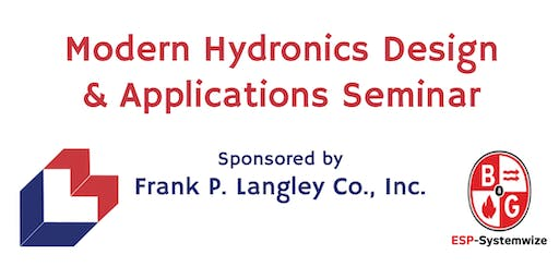 Modern Hydronics Design & Applications Seminar - Amherst