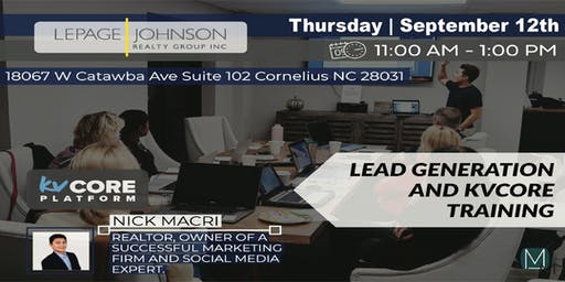 AGENT TRAINING:  Lead Generation & KV Core with Nick Macri