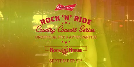 Rock 'N' Ride Unofficial Pre Party & After Party + Party bus tickets